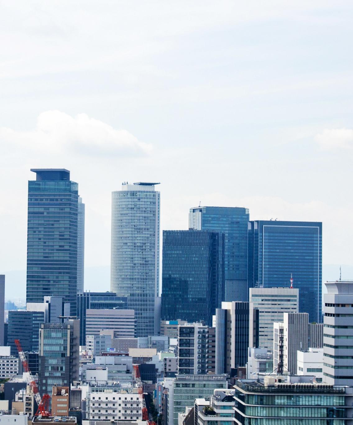 中小企業様向けのアドバイザリーファームであるJABSAをイメージさせる名古屋のビル群